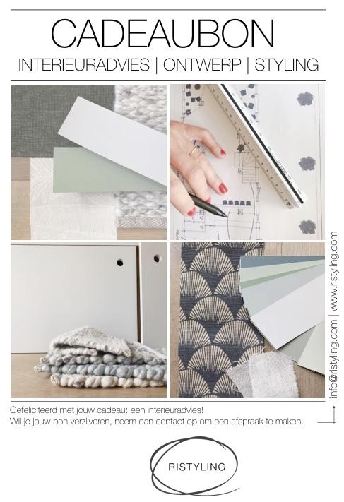 Cadeaubon interieuradvies Ristyling Ben je op zoek naar een inspirerend & origineel cadeau.